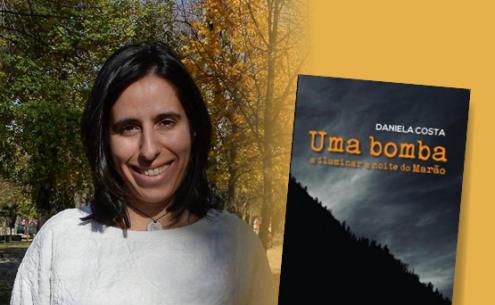"""Daniela Costa, autora do romance """" Uma bomba a iluminar a noite do Marão"""""""
