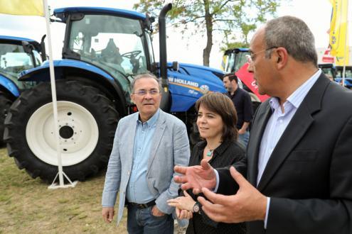 Carlos Matias, Catarina Martins e Vasco Garcias, presidente do CNEMA - Centro Nacional de Exposições de Santarém.