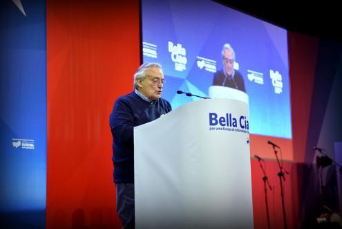 Fernando Rosas na sessão internacionalista da XI Convenção do Bloco - Foto de Paulete Matos