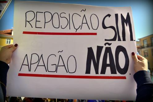 Professores desfilam sábado entre Marquês do Pombal e Rossio