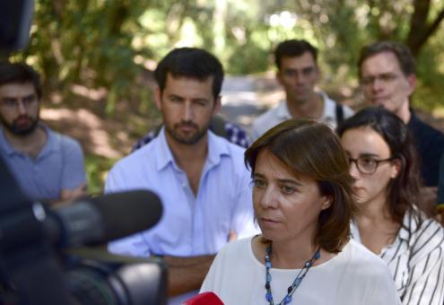 """Catarina Martins declarou que """"é preciso valorizar o trabalho dos enfermeiros em Portugal"""" - Foto esquerda.net"""
