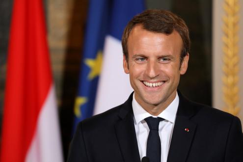 Emmanuel Macron por Ludovic Marin, POOL/Lusa.