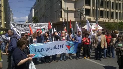 Uma delegação da Esquerda Europeia levou a solidariedaade à Grécia.