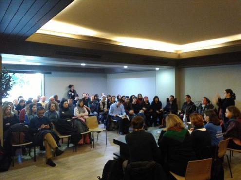 Sessão sobre os direitos dos cuidadores em Portugal promovida pelo Bloco de Esquerda, Porto 6 de janeiro de 2018 – Foto de Adriano Campos