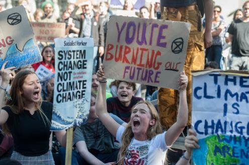 Grande novidade de 2019 foi o surgimento a nível mundial de um forte movimento juvenil exigindo Justiça climática