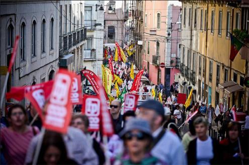 Manifestação Frente Comum