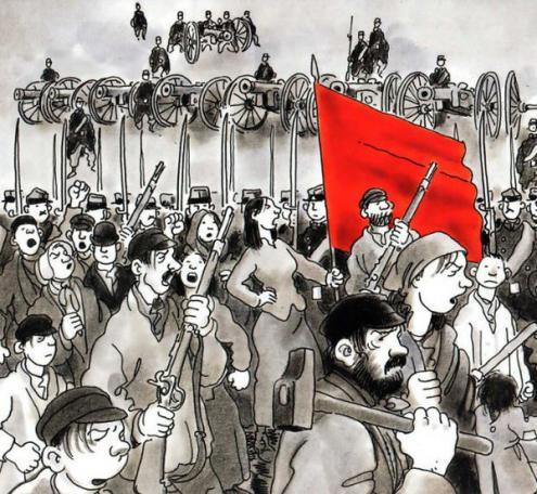 Ilustração sobre a Comuna de Paris. Fonte: Site da Gauche Anticapitaliste.