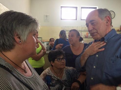 João Semedo no bairro de Aldoar