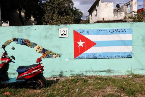 Numa parede em Havana, Cuba. Foto de Mariana Carneiro.