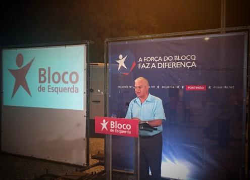 """João Vasconcelos:  """"Queremos Portimão em boas mãos"""". Afirmou o candidato do Bloco de Esquerda à Câmara Municipal de Portimão. Foto Esquerda.net."""