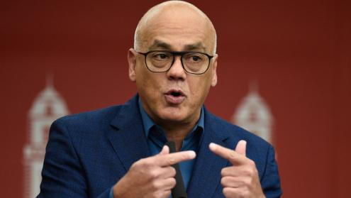 Jorge Rodríguez, ministro da Comunicação, encabeça a delegação do governo de Maduro