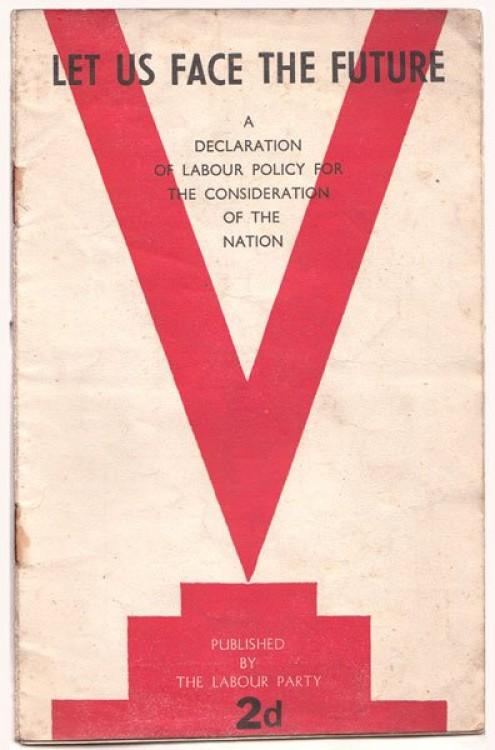 Manifesto eleitoral trabalhista de 1945.