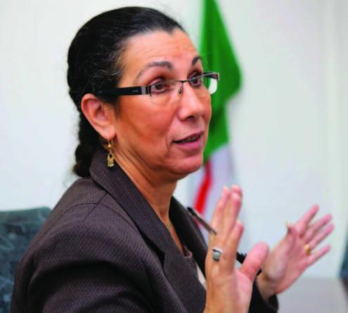 Louisa Hanoune. Foto de Souhil B, El Watan.
