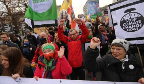 Marcha pela Justiça Climática em Katowice