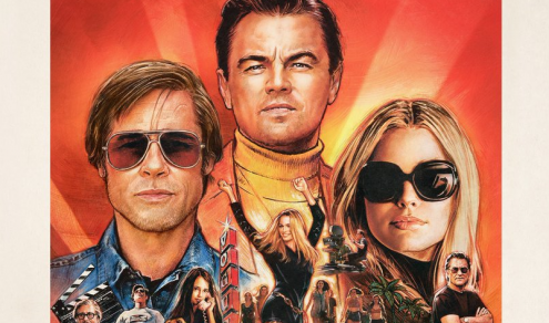 Pormenor do cartaz de Once upon a time in Hollywood de Quentin Tarantino.