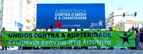 A Democracia contra o medo e a chantagem. Foto de Paulete Matos