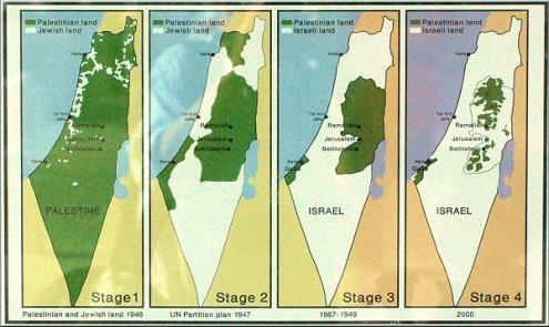 A expansão da colonização sionista através dos anos