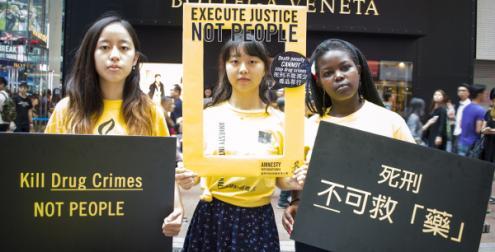 Campanha contra a pena de morte - Foto de Amnistia Internacional Hong-Kong