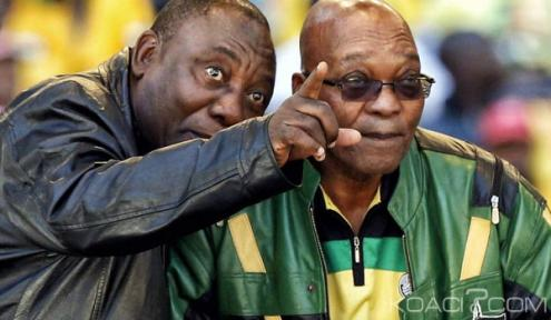 Cyril Ramaphos e Jacob Zuma