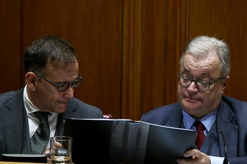 Secretário de Estado e Ministro da Cultura. Foto de António Cotrim, Agência Lusa.