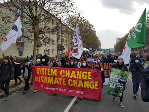 Marcha pela Justiça Climática em Katowice, no passado sábado, 8 de dezembro de 2018