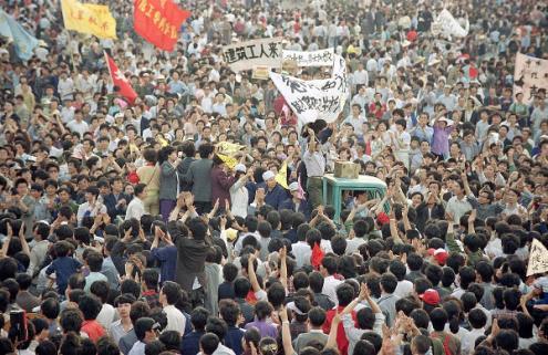 Tiananmen 1989 - foto domínio público/flickr