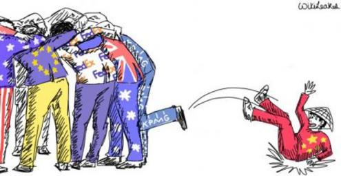 BRICS ficam de fora das negociações. Ilustração da Wikileaks