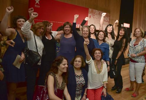 """""""E mesmo nos partidos que votaram contra a chamada lei das quotas - PSD, CDS e PCP -, vejam como ganharam por terem mulheres nas suas listas"""", afirmou Catarina Martins no encontro """"Igualdade de género nas autarquias"""". Foto de Paulete Matos."""