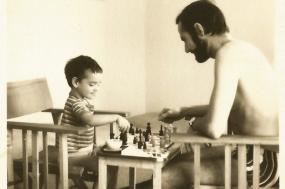 Raimundo Narciso com a filha.