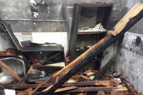 Casa de uma família cigana incendiada no concelho de Moura, uma denúncia recente do SOS Racimo e exemplo de uma situação que não é mencionada no relatório.