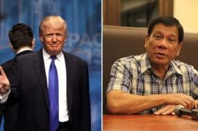 Donald Trump e Rodrigo Duterte.