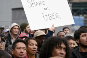 Shame on Uber, manifestação em São Paulo. Foto dos autores FM/MAGO.