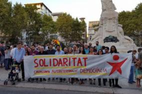 No dia 2 de outubro, o Bloco participou na manifestação em solidariedade com a Catalunha, Lisboa.