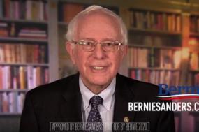 Bernie Sanders no vídeo em que anuncia a sua candidatura.