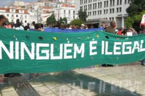 Manifestação de imigrantes. Foto de Paulete Matos.
