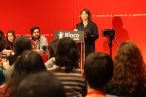 Catarina Martins na conferência de jovens do Bloco, 2019. Foto de Hugo Evangelista.