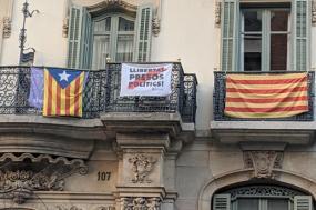 Bandeiras pró-independência, Barcelona, Fevereiro de 2019. Foto Cory Doctorow/Flickr.