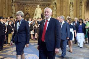 Theresa May e Jeremy Corbyn
