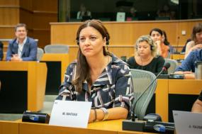 Marisa Matias no Parlamento Europeu. Foto de GUE/NGL/Flickr.
