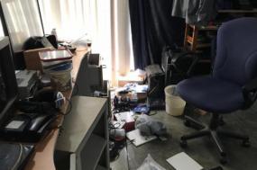 Na madrugada de 13 para 14 de dezembro, as sedes de várias ONG's foram assaltadas pela guarda do regime de Daniel Ortega – Foto da sede da revista Confidencial