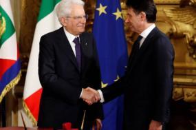 Presidente da República Sergio Mattarella dá posse ao primeiro-ministro Giuseppe Conte