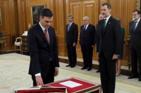 Tomada de posse de Pedro Sánchez, como primeiro-ministro de Espanha