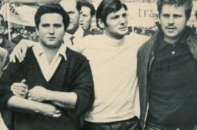 Alain Geismar, Jacques Sauvageot e Daniel Cohn-Bendit, líderes da revolta estudantil de 1968