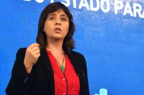"""Catarina Martins a intervir na conferência """"Que Orçamento para Portugal?"""""""