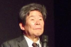Takahata no Festival Internacional de filmes de animação de Annecy, em 2014. Fotografia da página do realizador na Wikipédia.