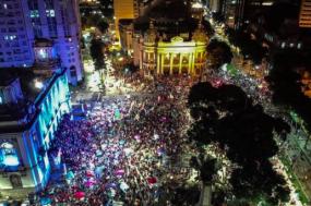 Manifestantes apoiam Lula no Rio de Janeiro. Fotografia: Mídia Ninja.