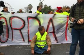 José Pinto Coelho, do PNR, na manifestação. Fotografia: Twitter/Renascença