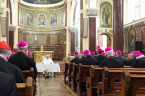 Papa Francisco na conferência episcopal na Irlanda. Fotografia da Agência Ecclesia.
