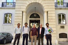 Na foto: Pedro Jordão - PDR-JPP, Rui Mendes – PS, Clemente Alves – PCP, Filipe Rua – PCP e Rui Costa – Bloco de Esquerda.