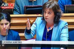 """Banco de horas individual """"tem de acabar"""", afirma Catarina Martins"""